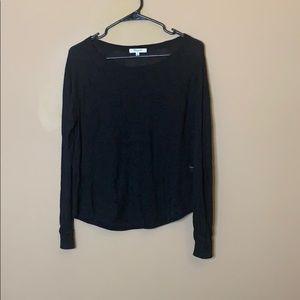 Madewell Linen Blend cutout sweater